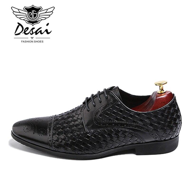 2019 nuevos zapatos de vestir informales de negocios para hombre de cuero genuino de cocodrilo con cordones zapatos de boda de estilo italiano Formal Oxfords-in Zapatos formales from zapatos    3