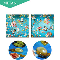 Meian Special Shaped Diamond Embroidery Flower Bird 5D Diamond Painting Cross Stitch 3D Diamond Mosaic Decoration