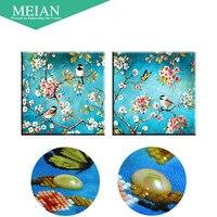 Meian Special Shaped Diamond Embroidery Flower Bird 5D Diamond Painting Cross Stitch 3D Diamond Mosaic Decoration