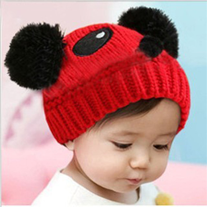 New Unisex Baby Hat Lovely Panda Animal Winter Cap Boy Girl Warm Knitting Cap Crochet Beanies Accessories 8 Color Hot Sale MZ007 the new children s cubs hat qiu dong with cartoon animals knitting wool cap and pile