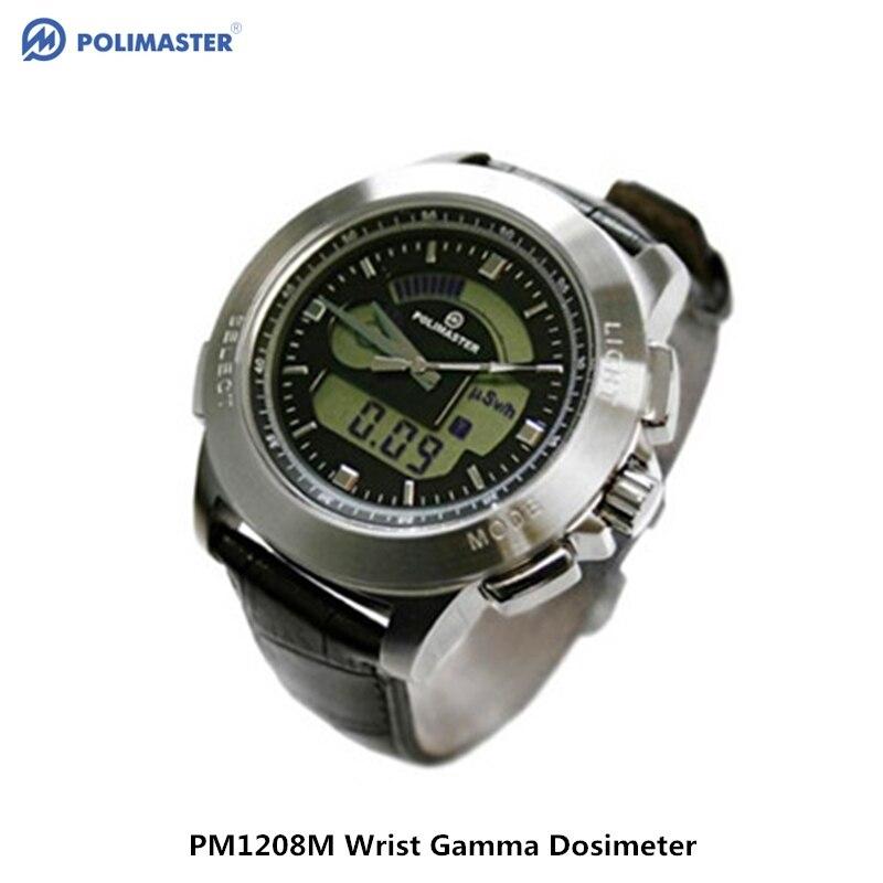Belarus PM1208M professional personal nuclear radiation detector waterproof wrist gamma ray font b geiger b font