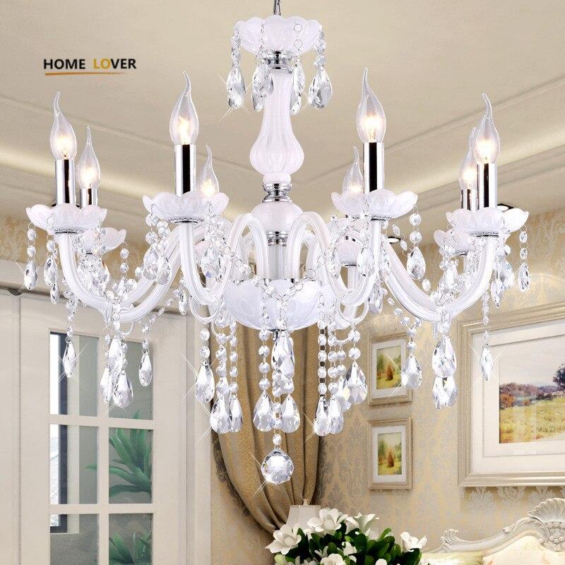 Candelabro de cristal Led iluminación para el hogar lustres de cristal moderno cocina comedor sala de estar candelabros