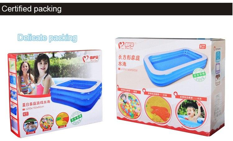 Grand adulte intérieur famille piscine épaississement rectangle piscine de pêche grand enfant piscine gonflable exportation bébé piscine - 3
