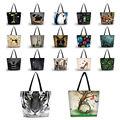 Lindo Suaves Plegables Mujeres Tote bolso de Compras del Bolso de Compras Del Hombro Carry Bag Lady Bolso de La Bolsa de Bolsillo Con Cremallera de Cierre Reutilizable de Eco
