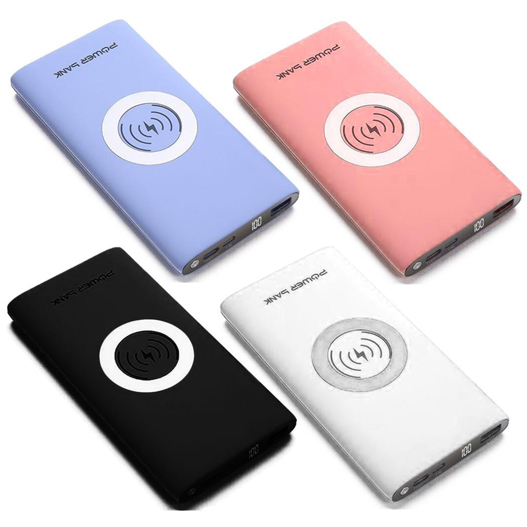 30000mAh Wireless Charger Power Bank Portable  External Battery Wireless Portable Charging Powerbank For IPhone Samsung Xiaomi
