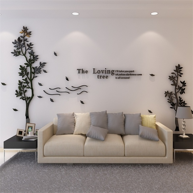 Modern Simple Tree Acrylic 3d Wall, Wall Stickers For Living Room