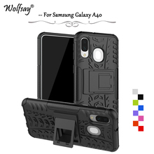 For Samsung Galaxy A40 Case Shockproof Armor Rubber Hard Phone Case For Samsung Galaxy A40 Back Cover For Samsung A40 A 40 Shell mofi for samsung galaxy a40 phone cases ultra thin slim cover case protective back shell for samsung galaxy a40