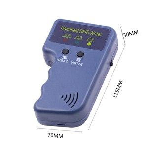 Image 4 - Handheld 125Khz EM4100 RFID Reader Copy Writer Duplicator(T5557/T5577/EM4305)+ 5pcs EM4305 Rewritable ID Keyfobs