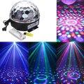 Mini Proyector Láser LED DJ Club Disco MP3 Música de Fiesta de Cristal Etapa de la Bola mágica Efecto RGB Del Punto de Luz de Navidad Con Disco USB + Remote
