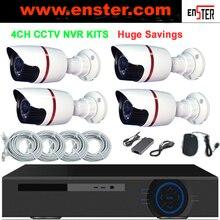 720P 1.0Megapixels IP Digital camera Package CCTV Surveillance Safety Digital camera System 4CH NVR Kits