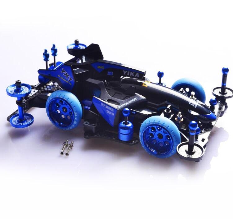 YANGKAI Dream Of The Soul Self Made Mini 4WD Car Model YIKA YANG KAI Blue Not