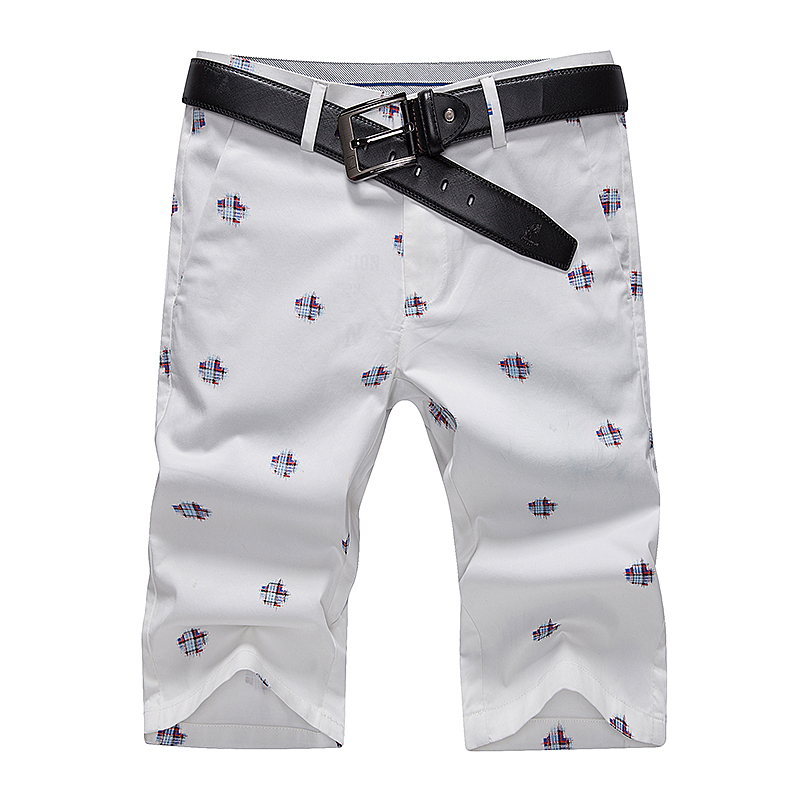 Cotton Shorts Slim-Fit Orange Yellow Khaki White Men's New-Style Casual Fashion Summer