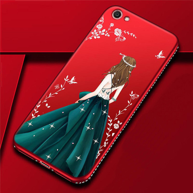 timeless design 19f3d b96c6 US $2.44 35% OFF|For Vivo V5 Lite Case Luxury Wedding Dress Girl Soft  Silicone TPU Phone Cover For Vivo Y66 Rhinestones Frame Shell (E0226)-in  Fitted ...