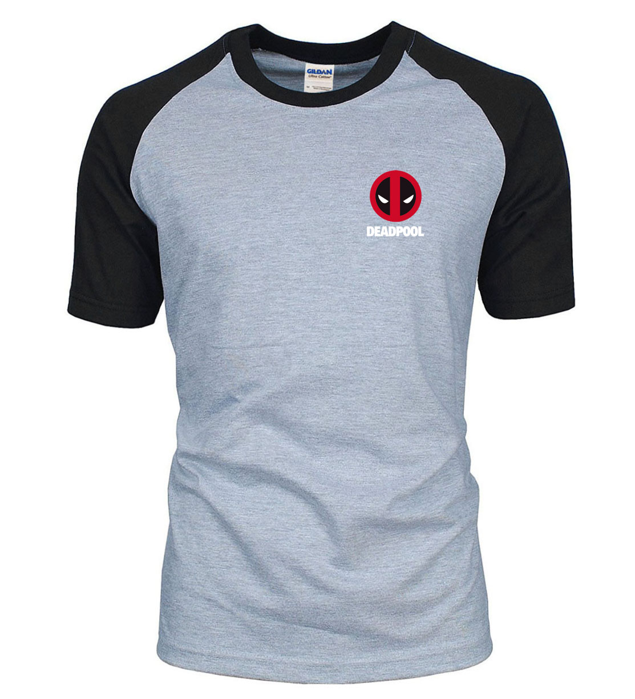 Superman Deadpool Raglan Men   T     Shirts   2019 Summer 100% Cotton High Quality Men   T     Shirt   Hip Hop Male   T  -  Shirts   Camiseta Masculsino