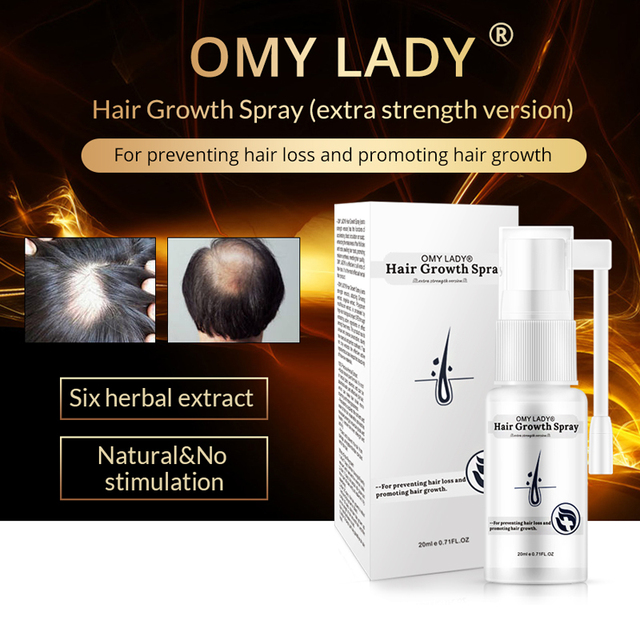 OMYLADY Men Hair Care Hair Growth Essential Oil Essence Original Authentic 100% Hair Loss Liquid Care Beauty Hair Growth Spray 2