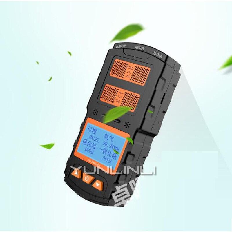 4 в 1 газоанализатор токсичных вредных детектор горючих газов Портативный окиси CO сероводород обнаружения сигнализации инструмент X 4