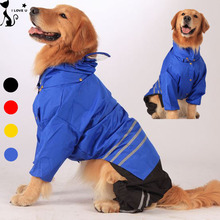 2016 Newly Large Dog Raincoat Clothes For Big Dogs Outdoor Coat Waterpoof Clothing Golden Retriever Labrador Pet Rain Jacket 149