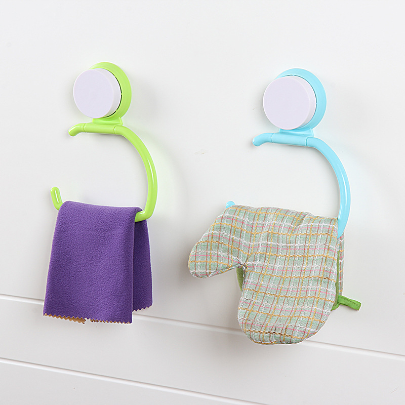 Creative Powerful Sucker Towel Holders High Quality Wall-Mounted Vacuum Bathroom Toilet Hanger Roll Paper Tissue Holder