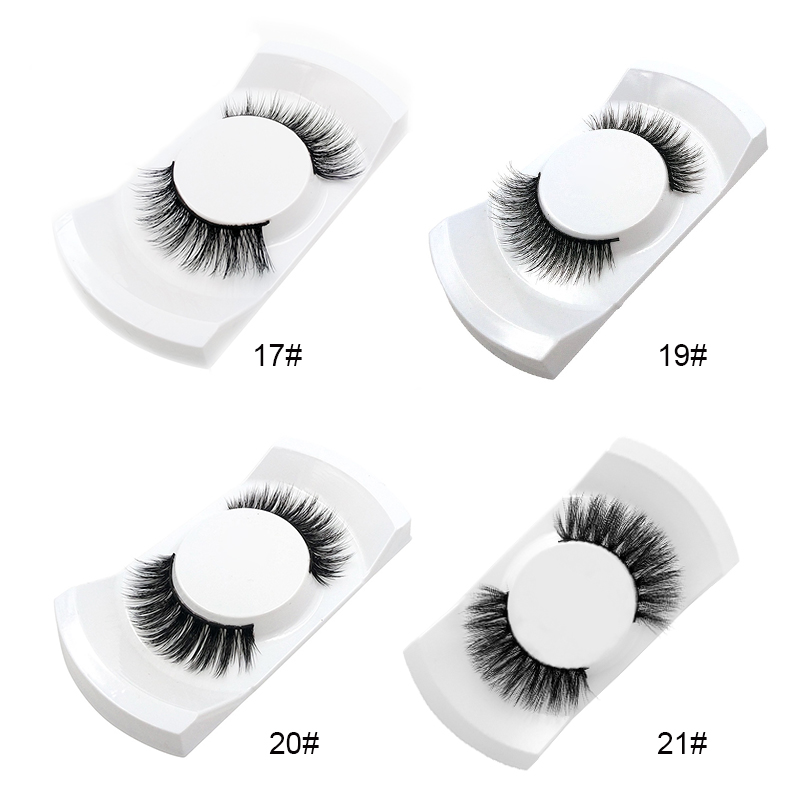 Elecool 1pair Black Natural Long Thick False Eyelashes Kits Makeup