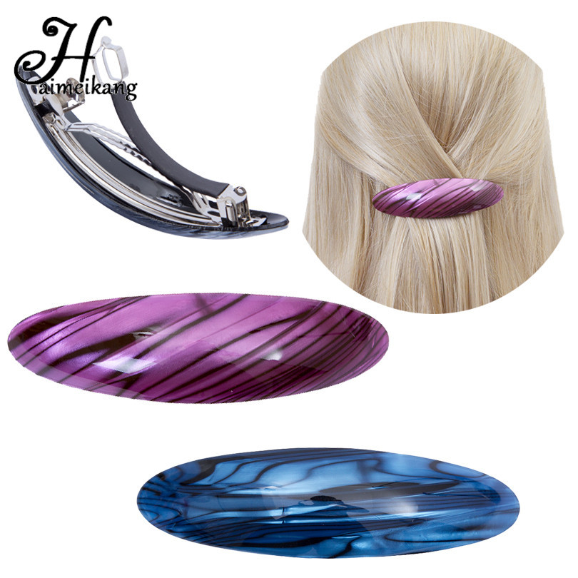 Haimeikang Women Headwear Vintage Hairpins Barrettes Girls Cute Oval Hair Clip Ponytail Holder Hair Accessories for Women