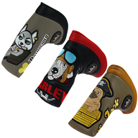 Craftsman Golf Putter Cover Blade Headcovers Magnet Closure Embroidery Waterproof Free Shipping