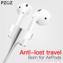 PZOZ Magnetic Anti Lost Rope For Apple airpods Earphone case Loop String Strap For air pods Soft Silicone Cable Cord Accessories