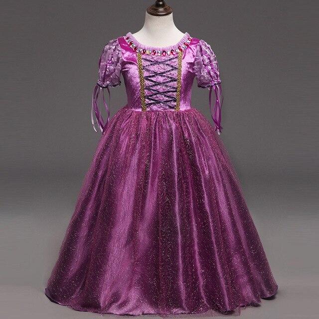 Heißer Verkauf Mädchen Rapunzel Prinzessin Kleider Kinder Cosplay ...
