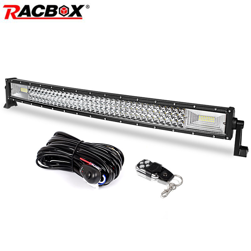 цена 3-Row 32 inch 459w Curved LED Light Bar Offroad Led Bar Flood Spot Combo Beam for Jeep ATV 4WD Truck SUV 12V 24V LED Work Light онлайн в 2017 году