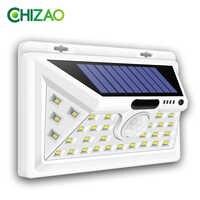 CHIZAO Solar Lights Outdoor Motion sensor Night security wall lamp 16 20 34 LED Waterproof Energy saving Garden Front door Yard