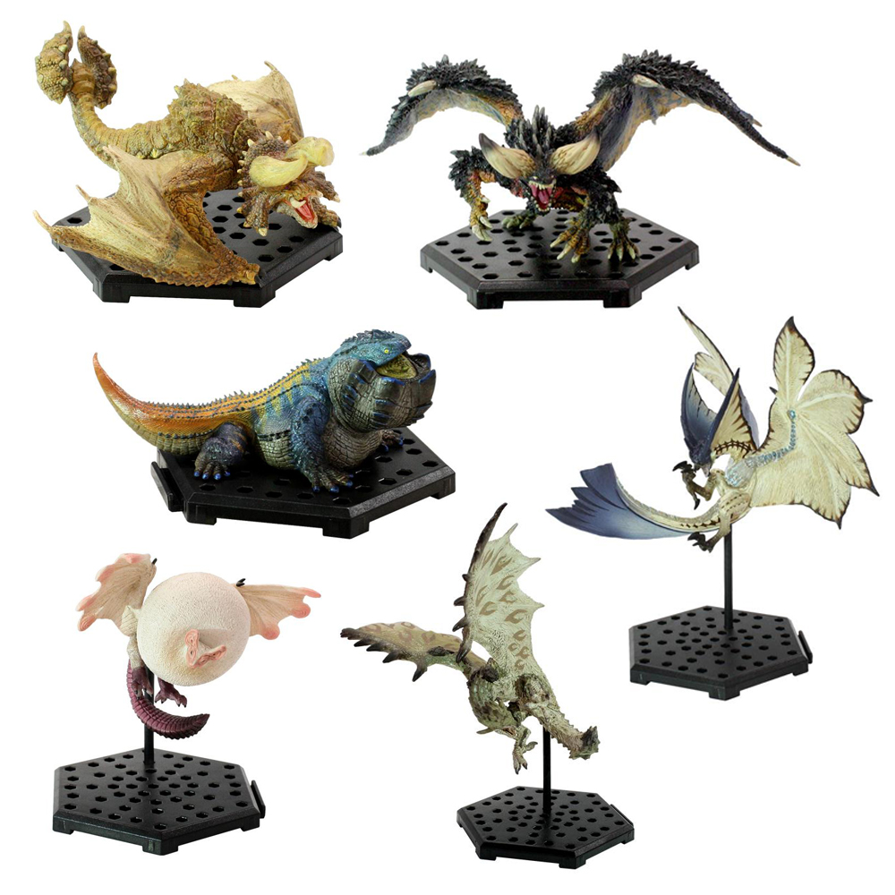6PCS Different Style Japanese Anime Monster Hunter World Plus Vol.10 PVC Models Ancient Dragon Action Figure Collect toys