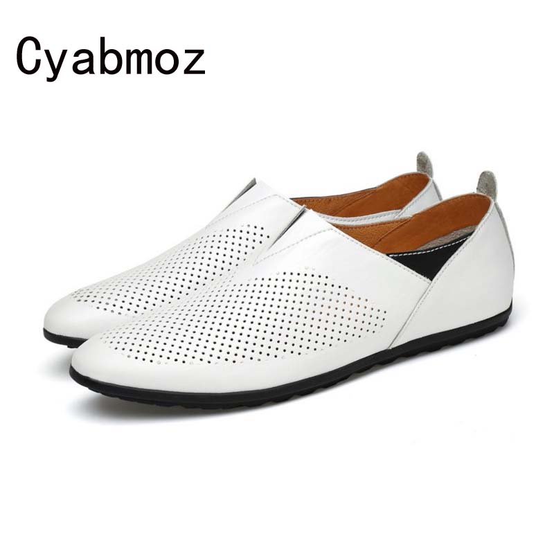 2018 Fashion Causal Shoes Men Loafers Genuine Leather Moccasins Men Driving Shoes High Quality Comfortable Flats Shoes For Man zenvbnv high quality summer cow genuine leather men shoes soft loafers fashion brand men moccasins flats comfy driving shoes