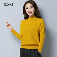 XJXKS Women's Long Sleeve Winter Tops Fall 2017 Fashion Plus Size Pullovers Sweaters Casual Turtleneck Solid Sweater