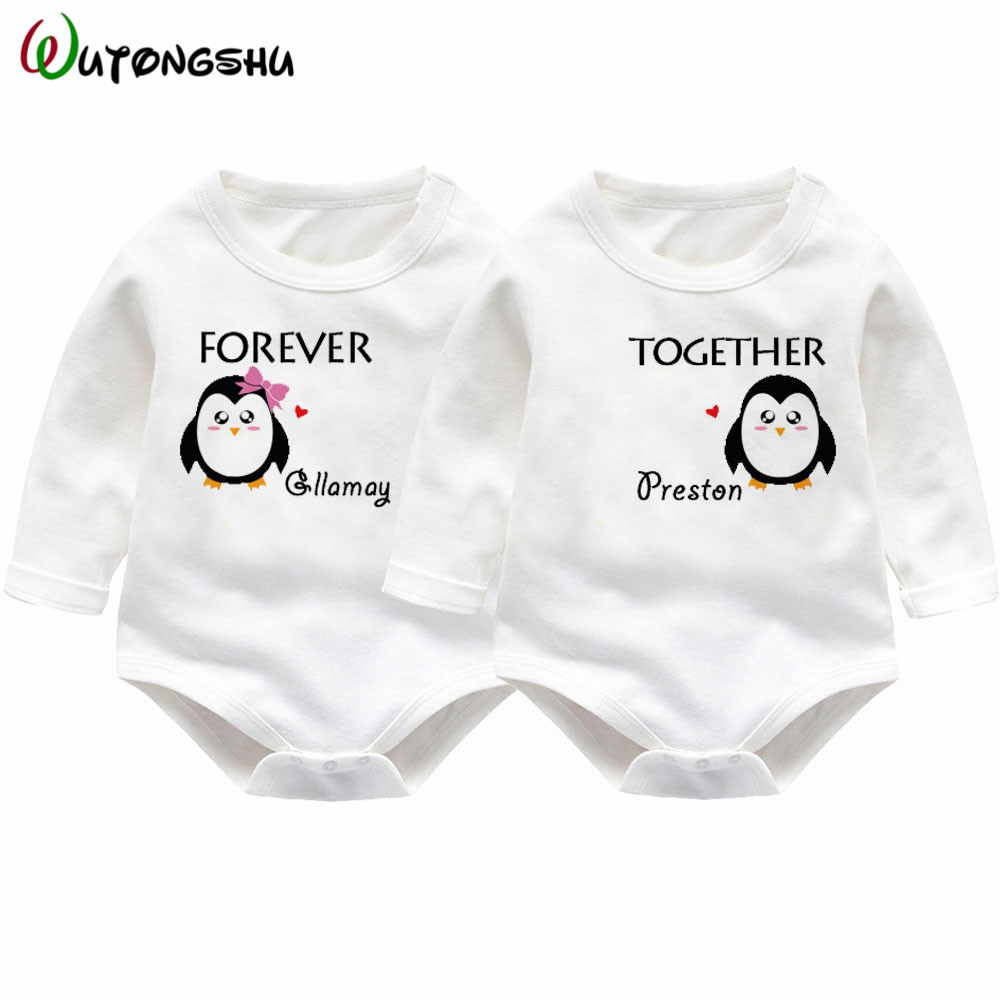Twins Baby Rompers Winter Baby Boys Girl Clothing Newborn Baby Clothes Roupas Bebe Long Sleeve Baby Girl Clothes Infant Jumpsuit penguin fleece body bebe baby rompers long sleeve roupas infantil newborn baby girl romper clothes infant clothing size 6m