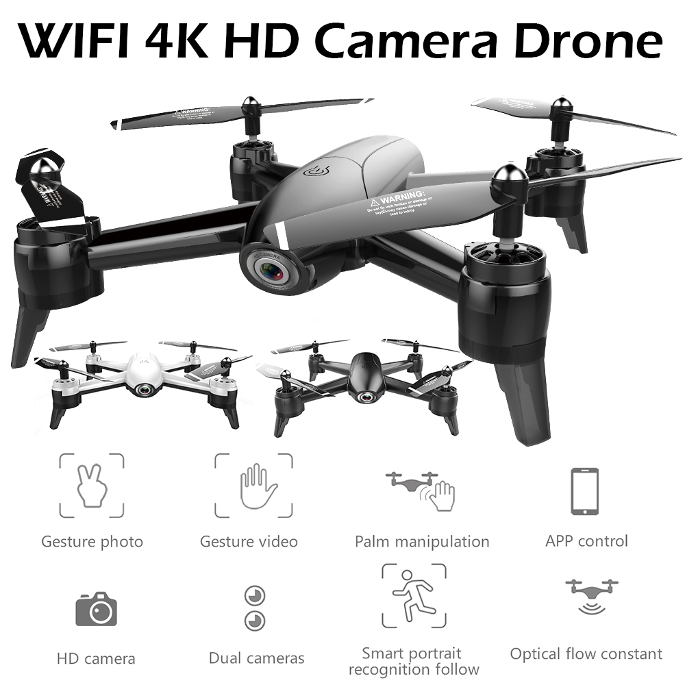 Kingjoy HD 4K 16MP WiFi FPV Quadcopter Optical Flow RC Drone With Camera Wide Angle