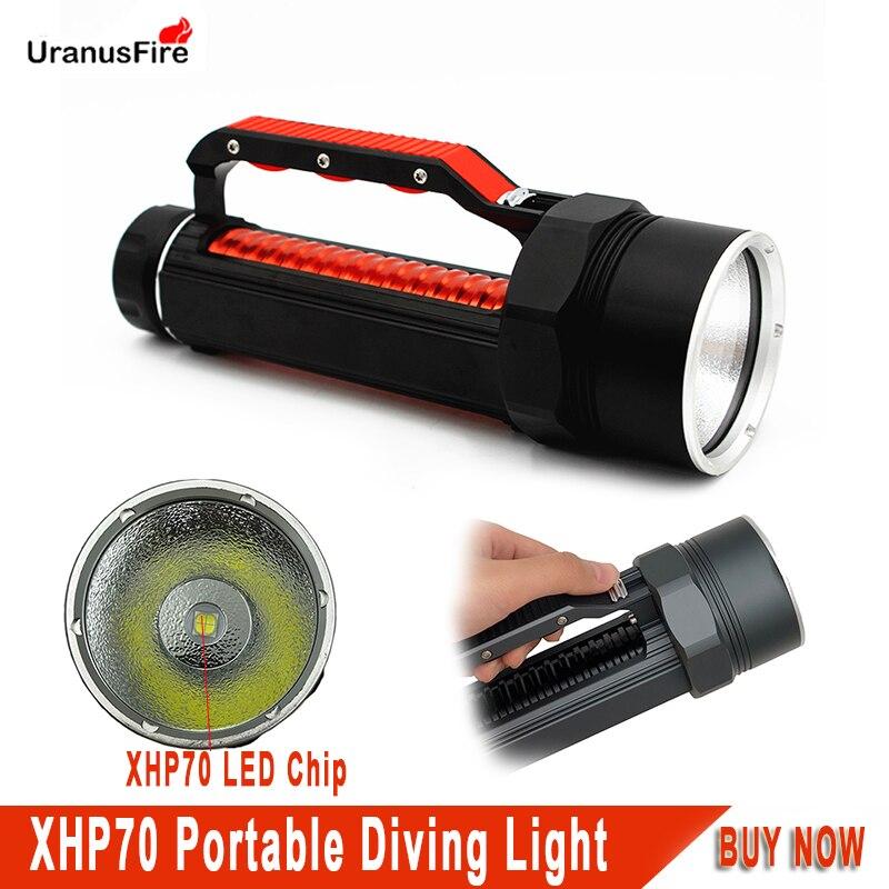 Uranusfire XHP70 LED Diving Flashlight 32650 portable lanterna tactical 5000LM light underwater scuba Torch Lamp