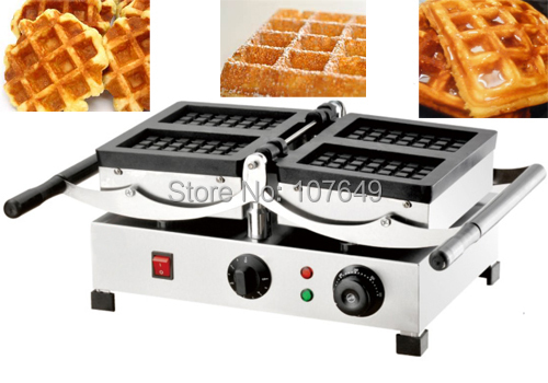 110V 220V Commercial Use Electric Swing Belgian Liege Waffle Maker Baker Machine Iron 110v 220v electric belgian liege waffle baker maker machine iron page 2