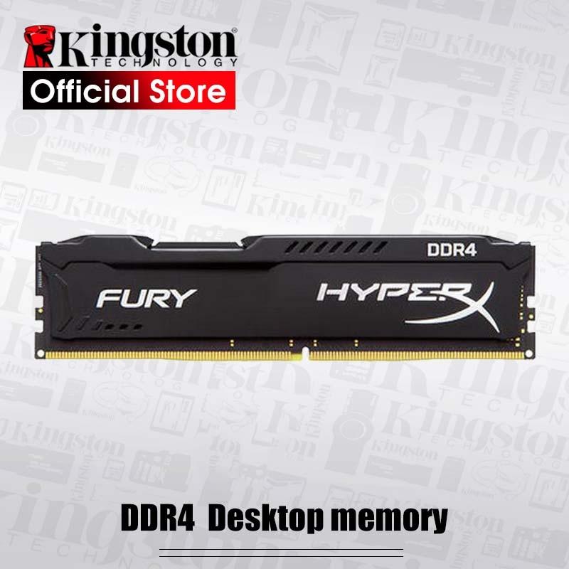 Kingston hyperx fury ddr4 16 gb 8 gb 2666 mhz 2400 mhz 3200 mhz desktop memória ram dimm 288 pinos desktop memória interna multi-canal