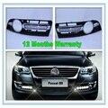 2 PCS Para VW Passat B6 DRL 2006 2007 2008 2009 2010 2011 Novo Par de Luzes Do Carro LED DRL Luz de Circulação Diurna à prova d' água