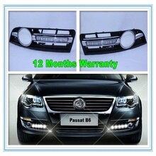 Para VW Passat B6 DRL 2006 2007 2008 2009 2010 2011 nuevo Par de Luces Del Coche LED DRL Daytime Running Lights 3C0853665AL 3C0853666AL