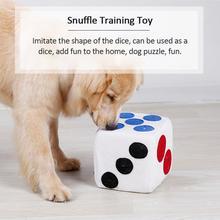 TPFOCUS Cute Plush Dice Shape Hiden Foods Puzzle Toy for Pet Dogs Sniff Training Pet Products