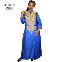 790441ef53 Diseño africano del bordado del BAZIN del vestido MATERIAL suave vestido  largo sin la bufanda LA019