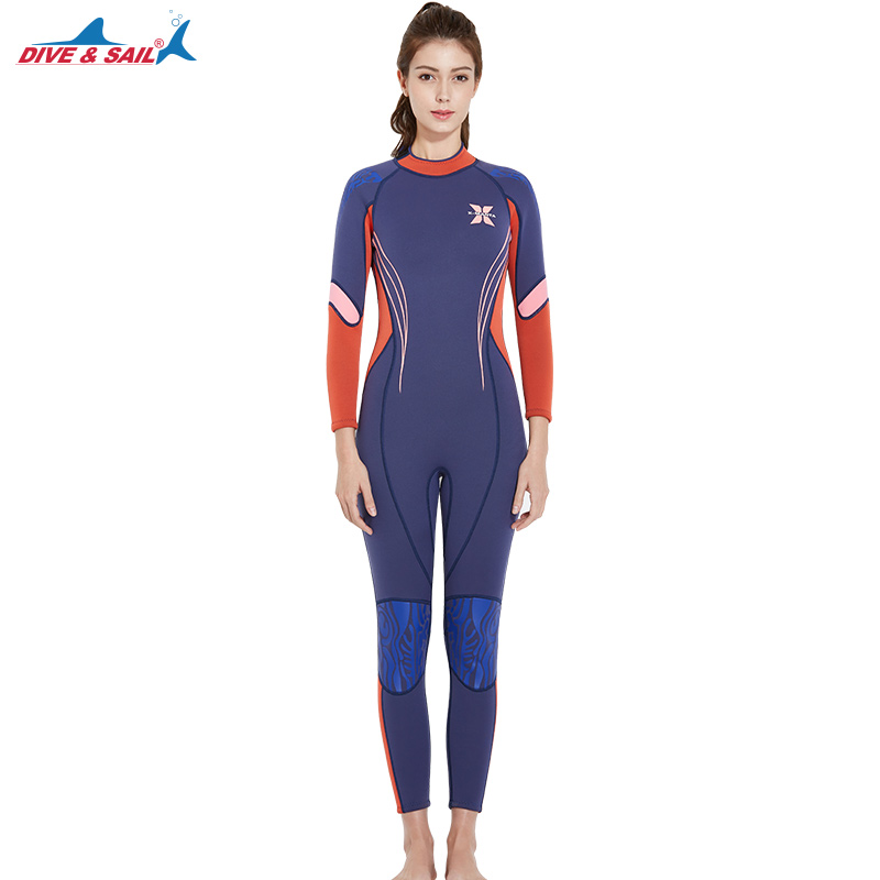 3MM Neoprene diving suit women spearfishing underwater hunting swimsuit triathlon wetsuit windsurf suit water sports equipment цена