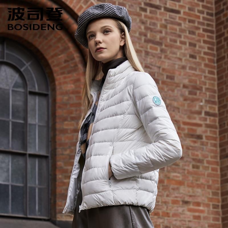 Image 4 - BOSIDENG 2019 early winter new down coat women down jacket ultra  light high quality waterproof soft skin fabric B90131010ADown Coats
