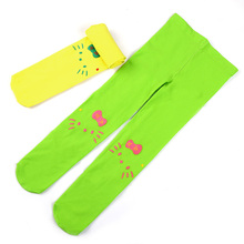 2017 New Cute Children Stocking For Kid Girls Baby Soft Pantyhose Tights Stockings Solid Baby Girl Cartoon Tights