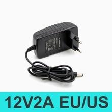 SUNCHAN 1PCS 12V2A AC 100V-240V Converter Adapter DC 12V 2A 2000mA Power Supply EU Plug 5.5mm x 2.1-2.5mm