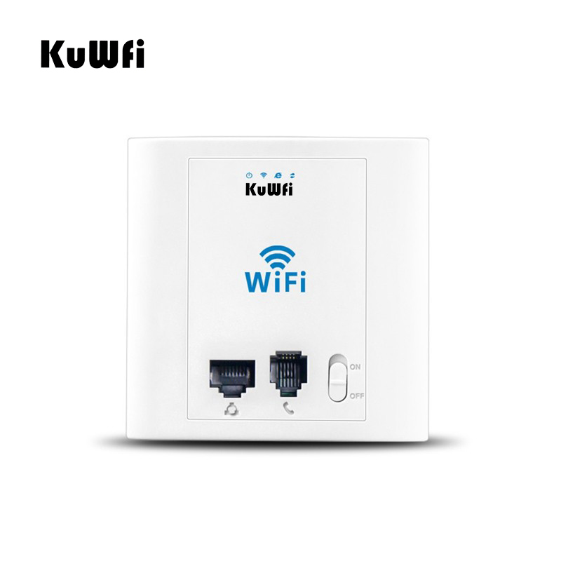 US Store 300Mbps In Wall Wireless Router Access Point Control System Wifi Repeater Wifi Extender AP Router With Phone Port&RJ45