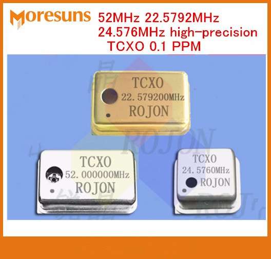 Fast Free Ship 3pcs lot 52MHz 22 5792MHz 24 576MHz high precisionTCXO 0 1 PPM temperature