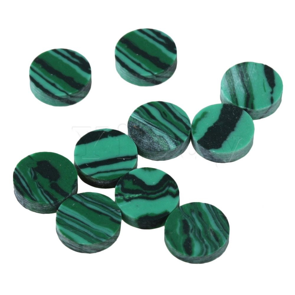 Steady Yibuy 10x Malachite Electric Acoustic Guitar Fingerboard Dot Green 6.2x1.6mm To Reduce Body Weight And Prolong Life Guitar Parts & Accessories