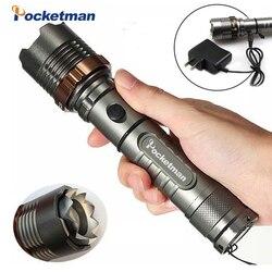 8000lm T6 LED Taschenlampe Wiederaufladbare Laterne Jagd Taschenlampe für 18650/AAA batterie direct charge