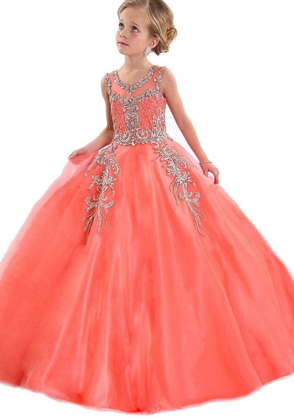9fc00f660 Lace Cute Ball Gown Flower Girls  Dresses Little Girls  Pageant ...